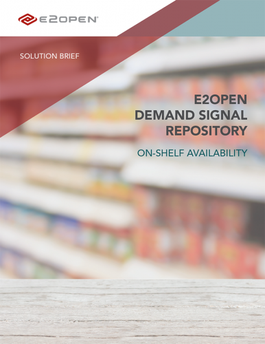 E2open Demand Signal Repository: On-Shelf Availability Solution Brief