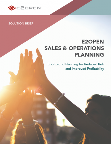 E2open Sales & Operations Planning Solution Brief
